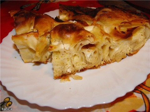 Рецепт пирога баница