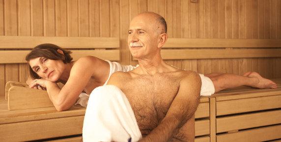 частные фото с мужских саун