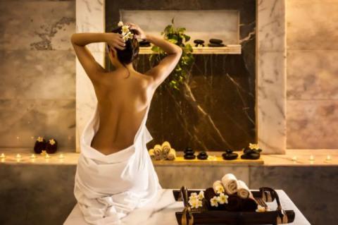 После мыльного массажа следует релаксация и чайная церемония.