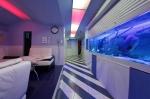 гостиная с аквариумом